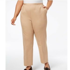 Alfred Dunner Plus Size 14P Fawn Trousers 6AS43